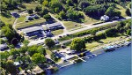 Anchor Inn lakeside from the air