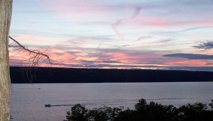 Finger Lakes Waterfall Resort sunset