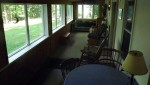 Hunter's View cabin porch overlooking woods