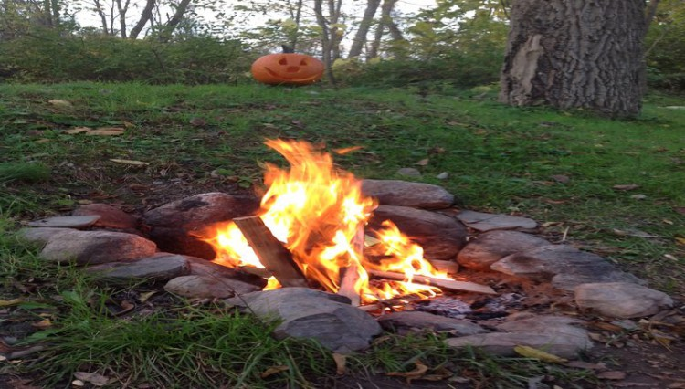 Firepit at a Catharine Cottage location