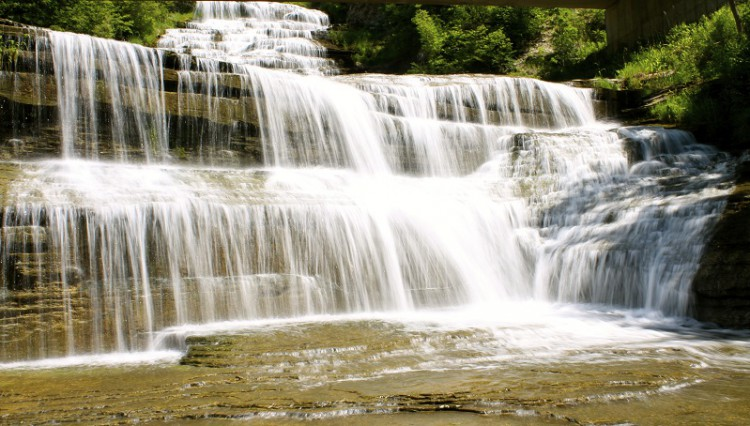 Finger Lakes Waterfall Resort falls on property