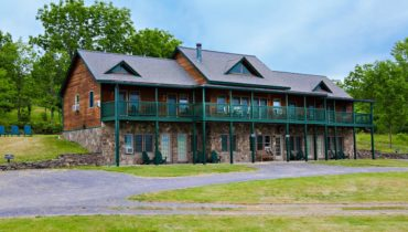 Inn at Grist Iron on hillside overlooking Seneca Lake