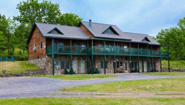 Inn at Grist Iron on hillside overlooking Seneca Lake