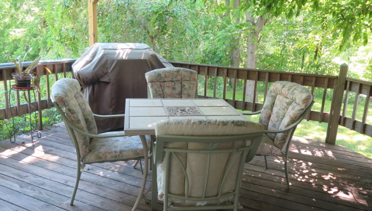 Dean Lane bnb outdoor seating with country feel
